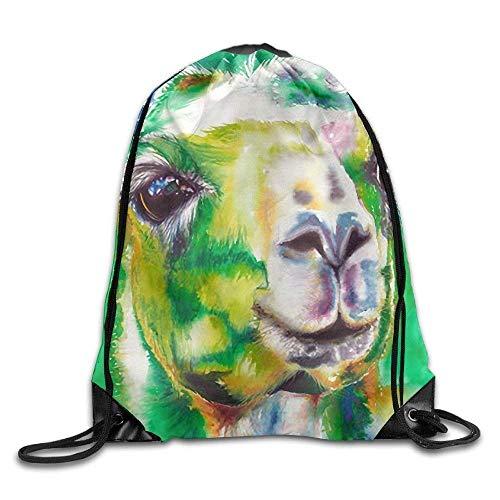 Bag shrots Big Eyes Llama - Mochila cordón Hombro