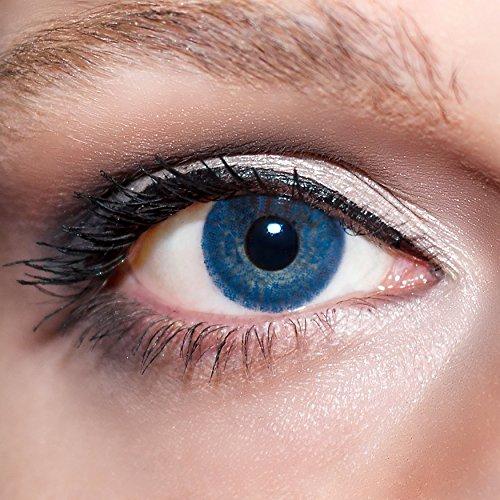 KwikSibs farbige Kontaktlinsen, dunkelblau, 1-farbig, weich, inklusive Behälter, BC 8.6 mm / DIA 14.0 / +2,50 Dioptrien, 1er Pack (1 x 2 Stück)