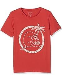 Quiksilver–Camiseta de manga corta, sscltyopalmskul, Niños, Camiseta, Sscltyopalmskul, Cardinal