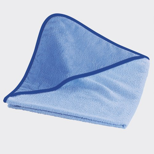 Wörner Kapuzen-Badetuch 80x80 cm - quadratisches Frottee-Tuch aus reiner Baumwolle mit Kapuze - Babytuch mit gewebten Saumkanten & kuscheligem Griff