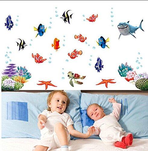 zuolanyo Ulan pesci acqua MONDO in oceano mondo sottomarino squalo animali marini da parete adesivo da parete spazio decorazione Wall Sticker