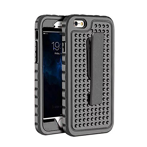 IPhone 6S Plus Case, Super Shockproof 3 In 1 PC Hard Case mit Clip für IPhone 6S Plus / iPhone 6 Plus ( Color : Blue ) Black