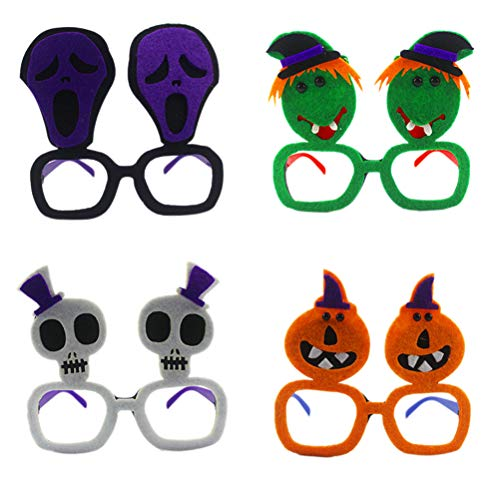 Party Kostüm Gläser Lustige Kürbis Schädel Geist Hexe Streich Verkleiden Brillen Halloween Party Cosplay Requisiten (Random Stil) ()