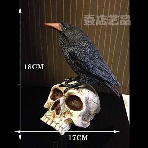 ChengBai Paket - mail Startseite Dekorationen crow Totenkopf bat führenden total Star Magic rechtfertigt einen Kopf für Tourismus Halloween Schädel Krähe