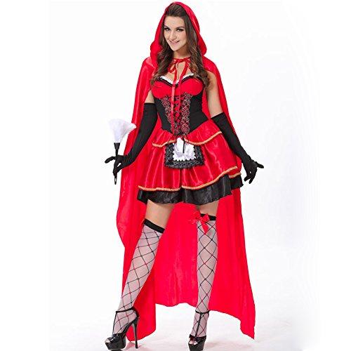 Imagen de bello luna disfraces de caperucita roja vestido sexy para mujeres cape halloween cosplay party alternativa