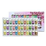 Diffusor ätherisches Öl, 36-Pack ätherische Öle Starter-Kit mit 12 verschiedenen Geschmacksrichtungen, organische Pflanzentherapie Aromatherapie ätherische Öle 3ML / Flasche