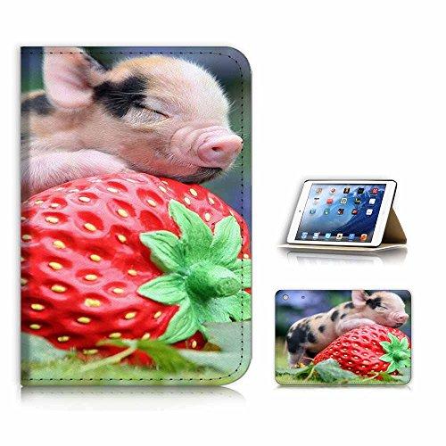 nd Displayschutzfolie für iPad Mini 4 / Generation 4, Motiv Baby Pig Erdbeere ()