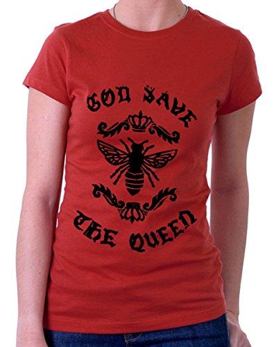 t-shirt GRIGIA God save the Queen - S M L XL XXL maglietta by tshirteria rosso