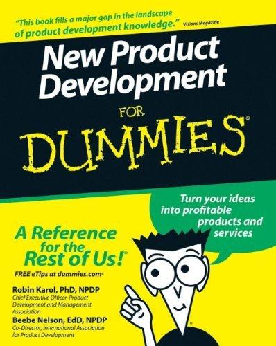 New Product Development For Dummies by Robin Karol (2007-05-07)