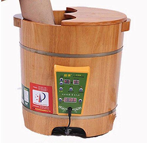 UFFD Bubble Foot Barrel-Begasungs Fass Heiz Eiche mit Deckel Fußbad Fass-Thermostatische Blase Fußfass Waschen Fußbad Mu Fußfass