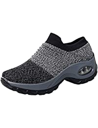 Beikoard Mode Frauen Mesh-Schuhe Dicke untere Plattform Schuhe Air Cushion Damenschuhe Rocking Shoes Bequeme Plateauschuhe