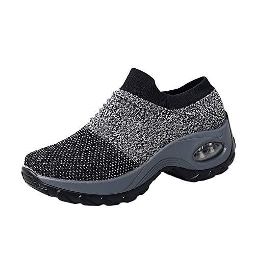 Yogogo Herren Damen Schuhe Dicke Unterseite Plattform Luftpolster -