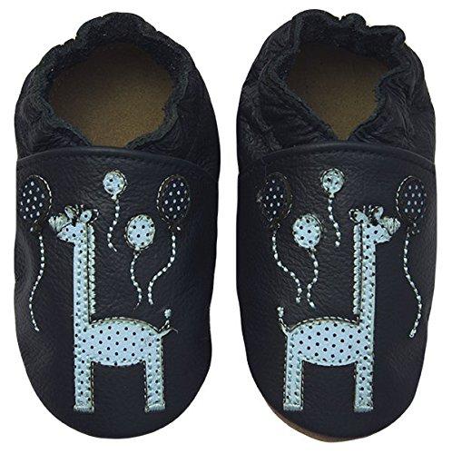 Rose & Chocolat Chaussures Bébé Happy Giraffe Bleu