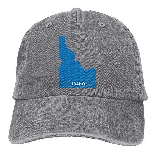 Sports Denim Cap Idaho Map Men Women Baseball Cap Polo Style Low Profile -