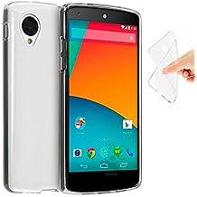 Funda TPU100% Gel Silicona Antihuellas Ultra Slim Transparente Para LG Nexus 5