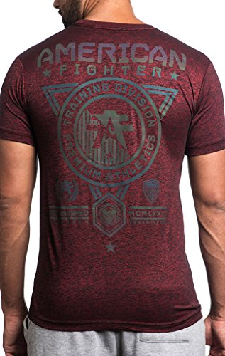 American Fighter by Affliction T-Shirt Massachusetts Weinrot Rot