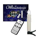 20er-Set LED Weihnachtskerzen Jucon, kabellos für Innen und Außen, LED Christbaumkerzen