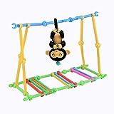 Y56 Schaukel-Spielset für Babyaffe, 40Teile, zum Bauen eines Kletter-Spielplatzes für Babyäffchen