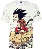 SERAPHY Unisexe Dragon Ball T-Shirt Son Goku Top d'été Manga Japonais pour Adult et Enfant 099 M