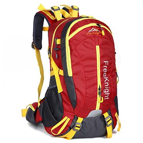 40L Wasserdicht Im Freien Lässige Kleidung Reisen Rucksack Licht Klettern Schulter Tasche Red