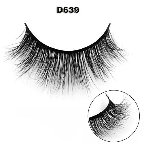 45 Modell 3D 100% Handgefertigte Künstliche Wimpern Dickes Augen Lashes Falsche Wimpern (Silber Glitzer Tragen Echt)