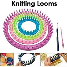 JJOnlineStore–4pcs colorido redondo DIY para tejer Knitter Telares calcetines bufanda gorro eléctrica Craft Kit de herramientas Set