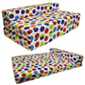 Gilda ® DOUBLE SOFABED - SPOTTY COTTON Fold Out Chair bed Guest Z Sofa bed Futon folding Mattress - inexpensive UK sofabed shop.