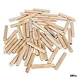 Perni di riferimento in legno, 50 pezzi per cilindretto rotondo in legno scanalato perni per spinotti artigianali M10 * 30/40/50/60/80(# 5)