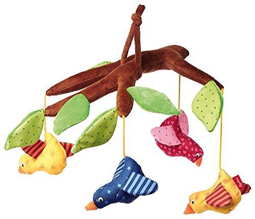 sigikid, Mädchen und Jungen, Mobile mit bunten Vögeln, Braun/Bunt, 40946