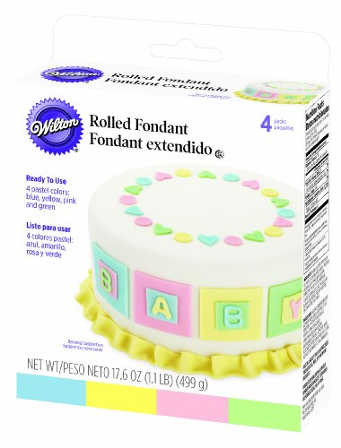 Wilton Pastel Colors Fondant, Multi Pack- Discontinued By Manufacturer by Wilton -