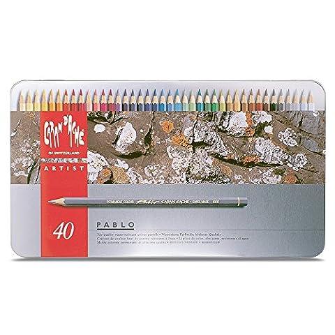 Caran D'ache Pablo Color Pencils Set Of 40 by Caran d'Ache