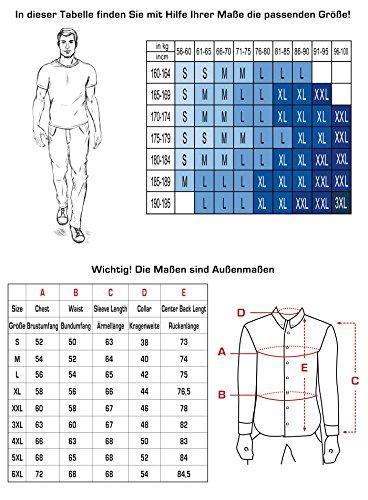 Herren-Hemd – Slim Fit – bügelleicht – Ideal für Anzug, Freizeit, Business, Hochzeit – Langarm Hemden für Männer S - XXL Navyblau