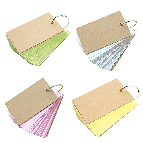 Lanaso Mini Notizbuch Kleine Memo Notizblöcke Pocket-Word-Karte Nachrichtenkarten-Nachrichtenblöcke Memorandum Notizblöcke Packung mit 4 Stück