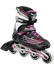 FILA® RADON XT Mujer Patines en Línea | Inline Skates | Cuchillas ABEC5 | Tamaños 39-40 | Ruedas 80 mm, Fila Größe:40, Fila Farbe:Black / Magenda