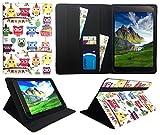 Sweet Tech Huawei MediaPad M5 10/M5 10 Pro Tablet 10.8 Zoll Bunt Eule Universal Wallet Schutzhülle Folio (10-11 Zoll