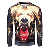 TIFIY Männer Herbst 3D Gedruckt Langarm-Sweatshirt Kausalen O-Neck Hipster Tops Graphics Tees Grundlegende Streetwear Bluse