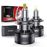 Audew 2PCS H7 LED, Ampoule LED H7 36SMD 360° Chips Lamp Phares Voiture 10000LM 6000K 12V 60W Remplace les Lampes Halogènes et au Xénon Blanc