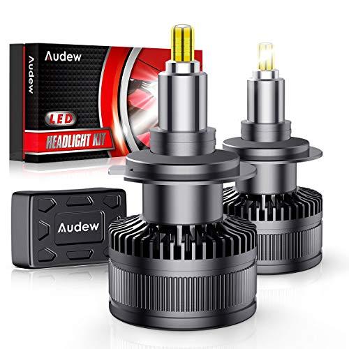 Audew H7 LED Lampade 36SMD 360° Chips Lampadine a Fari LED H7 Kit 10000LM 12V 6000K Sostituzione per Luci Alogene e Xenon Lampada Bianco