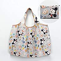 MIA&prit Eusable Shopping Bags, Foldable Vegetable Bags Washable Waterproof Shopping Bag, Fits In Pocket Tote Bags Eco-Friendly Travel Recycle Shopping Bags 2 pieces