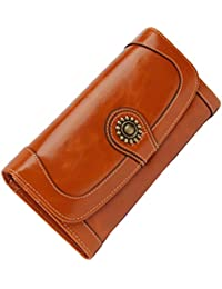 547fcbd0392183 Echtes Leder Geldbörse mit Smartphone Tasche, ACMEDE Edle Topp-Moderne  Portemonnaie Kreditkartenetui Kartenhülle Ausweistasche