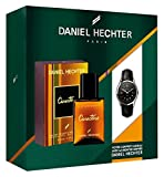 Daniel Hechter Koffer Caractère für Herren, Eau de Toilette 50ml + Daniel Hechter Armbanduhr