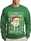 Green Turtle T-Shirts Make Christmas Great Again Trump Herren Ugly Christmas Sweater Sweatshirt X-Large Grün