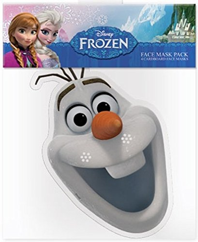 Official Disney Olaf The Snowman from Frozen Card Face Mask