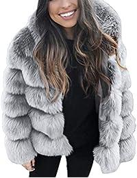 Amazon.it  pelliccia - Cappotti   Giacche e cappotti  Abbigliamento 2f36a2660f5c