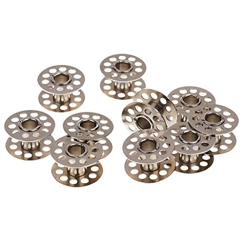 Imported 10x Metal Bobbin Spool for Home Sewing Machine