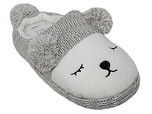 Ladies Girls Rabbit Bunny Bear Owl Animal Slip On Fleece Novelty Plush...