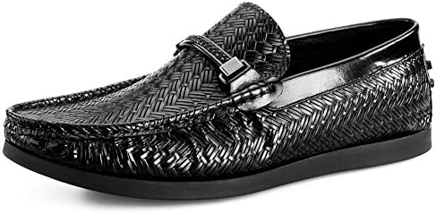 Men's Leather Casual Shoes Kleid Tuxedo Business Hochzeit Mode Rutschen Schwarzbraun