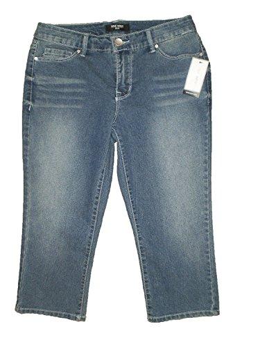 Nine West Gramercy Bayou Blue Stretch Denim Capri Jeans Petites New $59 Bayou