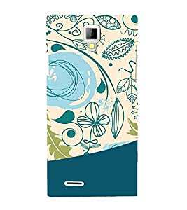 Fiobs Flowers Abstract Designer Back Case Cover for Micromax Canvas Xpress A99 :: Micromax A99 Canvas Xpress