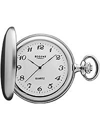 Regent Pocket Watch–Quartz–Silver–Arabic Numbers–P21